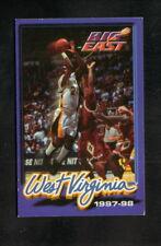 West Virginia Mountaineers--1997-98 Basketball Pocket Schedule--United National