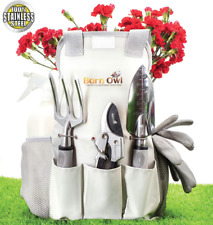 Barn Owl Stainless Steel Garden Tools 9 Piece Gardening Tools I Tools Sets with