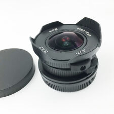 "8mm f/3.8 C mount 4/3"" Fisheye Camera for Micro 4/3 MFT M4/3 E-PL7 M1 Mirrorless"