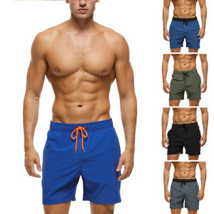 Men's Shorts Quick Dry Slim Lightweight Swim Beach Trunks with Pockets Swimwear