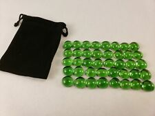 Set of 40 CLEAR GREEN Pente Glass Stone Game Playing Piece part replacement NEW