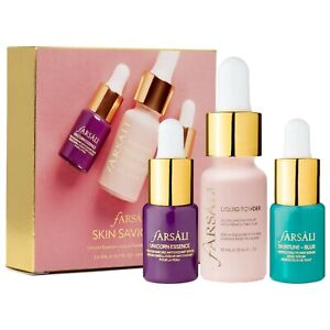 FARSALI Skin Saviours Set Unicorn Essence/Liquid Powder/Skintune Blur Minis NIB