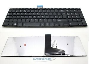 New Replacement For Toshiba SATELLITE C50-A-17R Black UK Layout Laptop Keyboard