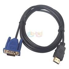 1.8m 6Ft HDMI Masculino A VGA HD-15 15Pin Masculino Adaptador Cable DVD TVAD PS3