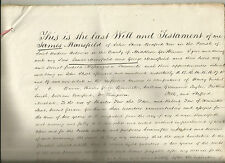 1848 LAST WILL & TESTAMENT OF JAMES MANSFIELD OF JOHN St  PARISH HOLBORN
