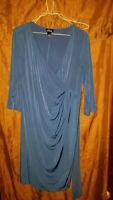 Large Oh Baby Maternity Dress blue