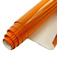 1.49x0.5m Orange Holographic Iridescent Laser Chrome Vinyl Vehicle Car Wrap Film
