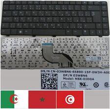 Clavier Qwerty Arabe DELL Inspiron 14V 14R NSK-DJD0A 03W8N6 O3W8N6 3W8N6 Noir