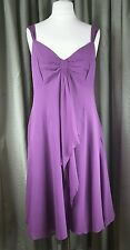 LK Bennett Purple 100% Silk Purple Strap Dress UK16 EU44 EXCELLENT CONDITION