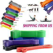 Heavy Duty Resistance Bands Loop Set Gym Exercise Pull up Fitness Yoga Workout