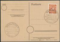 Alliierte Besetzung Postkarte mit Mi.-Nr.925 SST Berlin NW7 19.-20.4.1946 KPD