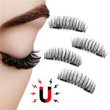 Magnetic False Eyelashes 3D Natural Eye Lashes Extension Handmade 4Pcs/2 Pairs