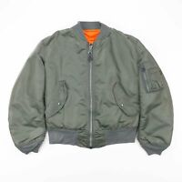 Vintage ALPHA INDUSTRIES MA-1 Reversible Bomber Flying Jacket Mens Size Small