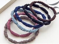 10pcs Mixed Color 6mm Spiral Hair Ties Rope Elastic Rubber Bands Ponytail Holder