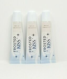Bath and Body Works Winter Edition Lip Gloss. Frosted Kiss 0.47 Oz (Pack Of 3).