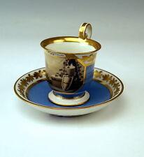 ALT WIEN  SAMMEL TASSE ALLEGORIE DER FREUNDSCHAFT VIENNA CUP WITH SAUCER UM 1818