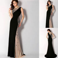 2018 Mermaid High Neck Formal Pageant Evening Party Prom Dresses Bridesmaid Gown