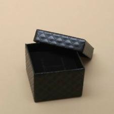 12 JEWELLERY GIFT BOXES FOR RINGS BLACK COLOUR VELVET STYLE GIFT SET