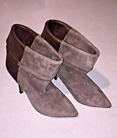 ISABEL MARANT TAUPE SUEDE LEATHER HIGH HEEL POINTY RUNWAY ANKLE BOOTS 40 10