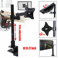 """Single Arm Desk Mount LCD LED Computer Monitor Bracket Stand 13-27"""" Screen TV"""