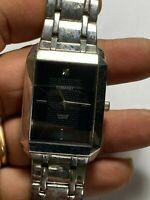 Nice Men's Silver Tone Embassy Diamond Analog Watch