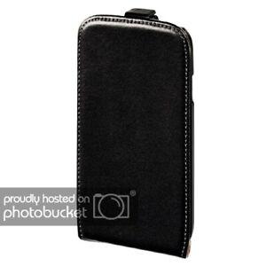 Hama Handy-Klapptasche für Apple iPhone 4/4S Schwarz Flap Fenstertasche Leder