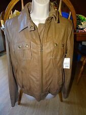 GUESS Misses Jacket Size Medium Tan Light Brown NWT Coat Womens
