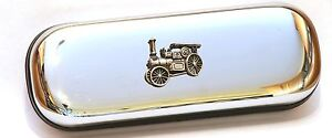 Traction Engine Motif Pen Case & Ball Point Game Steam Rally FREE ENGRAVING 350