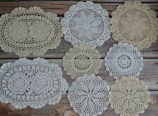 8 Crochet Doilies Lot in bulk French Country Wedding Table Runners Coasters