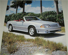 1990 Ford Mustang ASC McClaren Convertible car print (silver, no top)