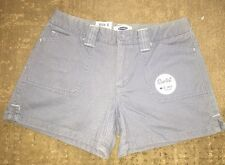 """New! OLD NAVY Cute Low Waist, Shortest 3 1/2"""" Inseam, Gray SHORTS, Size 1, NWT"""