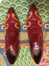 Red Leather Vintage  western ankle boot size 7