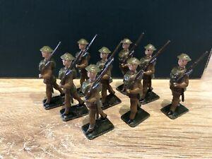 Johillco: British Infantry Marching. Pre War c1930s