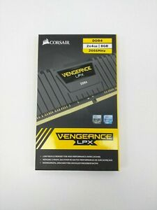 Ram Corsair Vengeance LPX 2*4Go DDR4 2666 Mhz, noir, jamais ouvert