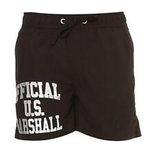 maillot de bain short caleçon US MARSHALL noir/argenté taille M - neuf