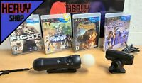 PS Move Controllers CECH-ZCM1U PS4 PS3 VR Sony Playstation + CAMERA + GAMES :0)