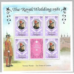 1981   ANTIGUA  -  SG. 704    SHEETLET  -  ROYAL WEDDING  -  MNH