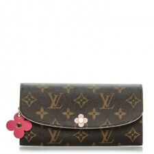 14d6d362103e Brand New LOUIS VUITTON Monogram Bloom Pink Flower Emilie Wallet Made in  France
