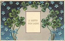 B2125 Fleurs Flowers Clover PPC used 1910 holiday  front/back scan