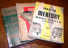 1952 1953 52 53 Mercury Parts Catalog Deluxe Wagon Coupe Convertible Woody