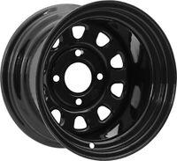 ITP Delta Steel 12X7 4+3 Offset 4/137 12mm Bolt Pattern Black ATV - UTV Wheel