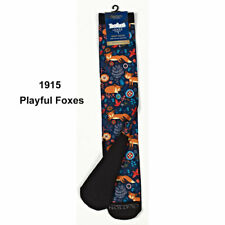 470932 Ovation FootZees by Zocks Boot Socks C1915 - Playful Foxes NEW