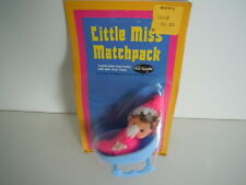 FUN WORLD BEAN BAG DOLL 1970'S KIDDLE KLONE /CLONE ON HER ROCKING CRADLE / CRIB