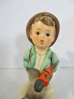 Hummel Goebel Figurine Globe Trotter Boy Basket Umbrella Label Vtg 1960 TMK3 #79
