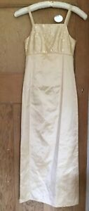 Gold Bridesmaid Dress Size 6-8 XS Petite BHS Wedding Collection Teenager