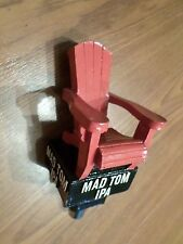 "Rare Red Adirondack Lawn Chair Mad Tom IPA Wood Man Cave 6"" Beer Keg Tap Handle"