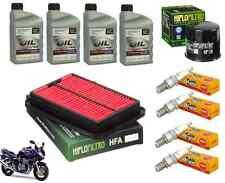 Kit Révision Vidange Suzuki GSF Bandit 600 s00-04 filtre air huile bougie + 4L