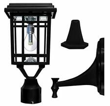Gama Sonic GS-114B-FPW-BLK Prairie Bulb Lamp Outdoor Solar Light Black LED Bulb