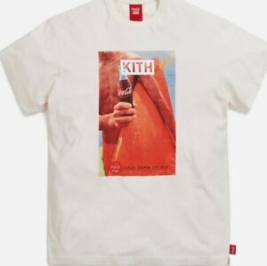 Kith x Coca Cola - New Without Tags - Surfboard Vintage Tee - XXL - Men - Ivory