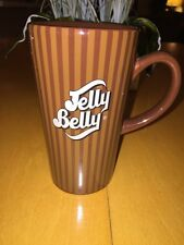 Tall Jelly Belly Coffee Mug Cup Brown Pre Owned Condition